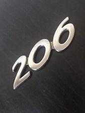 PEUGEOT 206 rear number badge logo emblem (C40)
