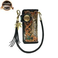 Handmade Vintage Cowboy LongWallet With Carving Thai Maleehuanna Genuine Leather
