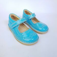 Petasil Girls Blue Mary Jane Leather Shoe Size 5 UK Kids Sandals Summer Pump