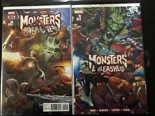 Monsters Unleashed Complete Set #1-5 Marvel Collectible