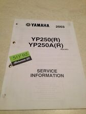 Yamaha YP250A YP250 R 2003 YP 250 service information technique technical data