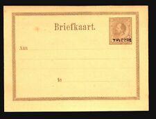 Suriname 1890s 7.5c Re-Valued Postal Card Unused - Z14976