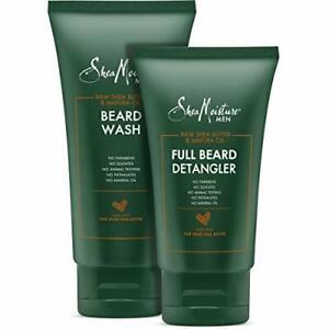 Shea Moisture Beard Wash and Detangler Set - Maracuja Oil & Shea Butter,...