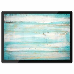 Quickmat Plastic Placemat A3 - Blue Distressed Wood Seaside Surf  #15868