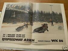 A227-IJSSPEEDWAY ASSEN WK 1986 HALVE FINALE ICE SPEEDWAY MOTO POSTER 1/2-3