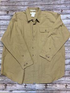 Orvis NWT Ventile Cloth Upland Khaki Hunting Shirt Size XXL 21T9-6055