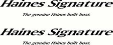 Haines Signature Fishing Boat Sticker Decal Marine Set 675 x 100mm