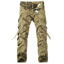 Mens Causal Camping Hiking Army Cargo Trousers Combat Military Baggy Long Pants