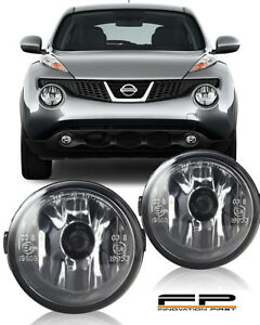 FOR 2011-2014 NISSAN JUKE CLEAR LENS REPLACEMENT FOG LIGHT HOUSING ASSEMBLY PAIR