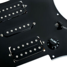 Black Loaded Pickguard Wired Plate For Fender Strat Guitar HSH Scratch Plate