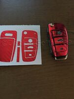 CARBON Chrom Rot Folie Schlüssel Audi TT A1 RS 8J R A6 A3 8p A4 4F S3 S4 B7 Q7