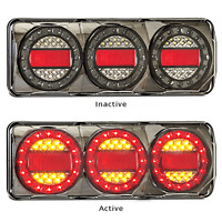 PAIR LED COMBO LIGHTS TRUCK TRAILER CARAVAN FLOAT MaxilampC3XRR