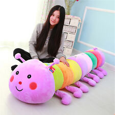 Giant Big Soft Caterpillar Sleeping Pillow Doll Huge Stuffed Colorful Kids Toys