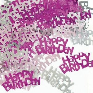 14g Pink Happy Birthday Table Confetti Party Celebration Decorations Supplies