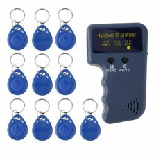 125KHz Handheld RFID ID Card Copier Key Reader Writer Duplicator + 10X Tags USA