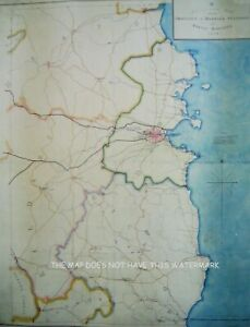 DUBLIN KINGSTOWN PROPOSED RAILWAY CONSTRUCTION 1837 MAGNIFICENT HARDBACK MAP
