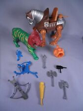 Lot of Masters of the Universe Weapons, Stridor, Battle Cat, Helmet Accessories
