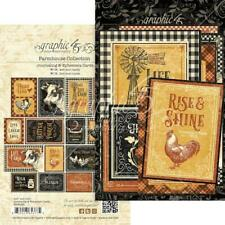 Graphic 45 Ephemera Cards 32pcs - Farmhouse