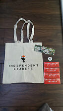 INDEPENDENT LEADERS CANVAS TOTE BAG, STICKERS & WALLET