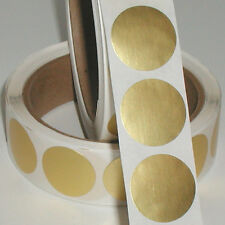 Dull Gold Metallic Foil Seals, 1.75 Inch Circle, Roll of 1,000 Labels