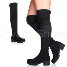 stivali sopra il ginocchio da donna cerniera tacco medio ( 3,9-7 cm )