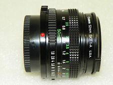 A+ CANON FD 50mm F/1.8 F1.8 Lens with filter and both caps ECU