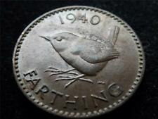 1940 GEORGE VI WREN FARTHING COIN HIGHER GRADE