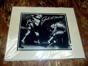 Jake LaMotta Signed Autograph Mat Photo w/ COA Gallery of Legends Boxing 11x14