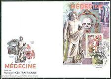 CENTRAL AFRICA 2013  MEDICINE SOUVENIR SHEET FIRST DAY COVER