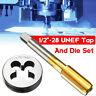 1/2-28 UNEF Right Hand Thread Plug Tap and Die Set TPI HSS Titanium Coated US