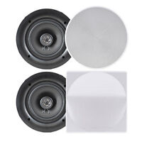 "NEW Pyle PDIC66 PAIR of 6.5"" In-Wall/In-Ceiling Speakers 200W 2-Way Flush Mount"