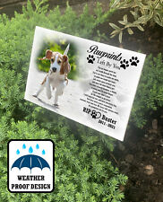 Large grave marker, Dog pet loss, Memorial plaque with stake, Personalised.