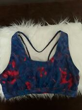 Saucony Sport  Bra Women's Size XLarge Coral and Blue