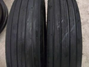 TWO 590-15,590x15 Rib Implement Disc,Do-All,Wagon 4 ply Tube Type Tractor Tires