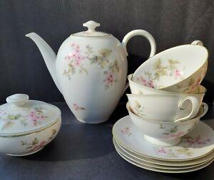 Kubschenreuter Teapot Tea Set & Cups Saucers and Sugar 12 PC Bavaria Germany
