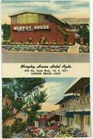 Murphy House Hotel Apartments Laguna Beach California CA Vintage Postcard