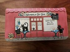 Women Vendula Cat Cafe Medium Zip Around Wallet