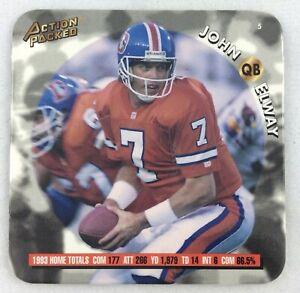 NFL 1994 Action Packed SuperStars CoaStars Coaster #05-John Elway, Broncos