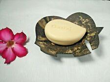Wooden Soap Dish Holder Elephant Shaped Coconut Shell Wood Handmade Bathroom #2