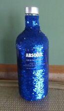 Absolut Vodka Limited Edition Bottle Wrap - Blue Sequin Cover 2018 Barware