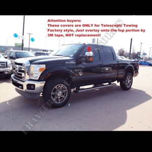For FORD Super Duty F250 F350 F450 2008-12 13 14 15 2016 Chrome Top Mirror Cover