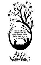 Alice in Wonderland Reading- Typography quote Decorative Vinyl Wall Sticker