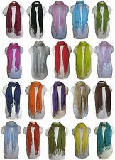 Schal Tuch grob gewebt mit Fransen über 20 Farben zur Wahl Unisex