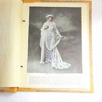 Antique 1910 HANDMADE DENVER STUDENTS CAREER BOOK School Scrapbook Report Music