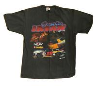 Ernie Irvin NASCAR Mens XL Black Graphic Vintage single Stitch Tshirt 1997