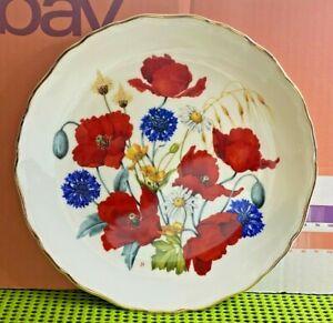 Royal Albert-Porcelain/China-Cornfield Poppies-British Wild Flowers-by Jo Hague
