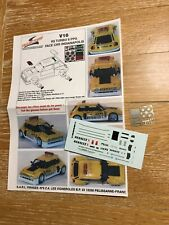 Decal TRAJECTOIRE Renault 5 Turbo Pace Car Indianapolis 1982 1/43 scale