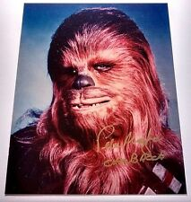 STAR WARS CHEWBACCA PETER MAYHEW AUTOGRAPHED 8x10 GLOSSY PHOTO HAND SIGNED w/COA