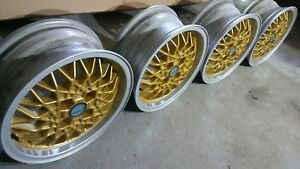 "BBS RA 375 alloy rims 15"" 4x100 golf jetta bora polo passat vento lupo wheels"