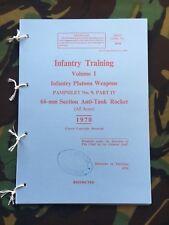 LAW 66MM L1A1 M72 ANTI-TANK PAMPHLET MANUAL FALKLANDS GULF WAR SAS PARAS